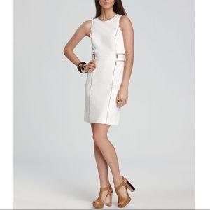 michael kors double zip sheath dress